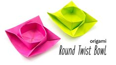 Origami Round Twist Box / Bowl Tutorial Paper Kawaii #origami #paperkawaii