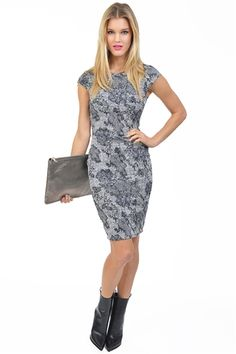Kacy Lace Dress- Black & White at
