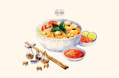 """A calendar that was inspired by the traditional cuisine of Hanoi. Some of the featured dishes were mentioned in the book called """"Mieng ngon Ha Noi"""" by Vu Bang, a well-known Vietnamese author."""