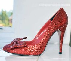 Shoeperwoman Shops Shoeaholics: KG by Kurt Geiger red glitter 'Jasmine' pumps > Shoeperwoman