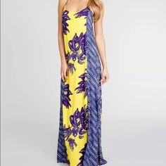 Vix lined maxi dress cover up Two slits on the sides, adjustable straps, elastic lining. Very comfortable. Never worn Vix Swim Coverups