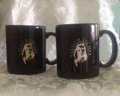 2 Saugahatchee Creek Indian Coffee Cup Mug Muscogee Loachapoka Alabama Made USA #unknown