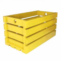Caixote de Madeira Amarelo Outdoor Furniture, Outdoor Decor, Outdoor Storage, Home Decor, Painted Wood, Crates, Infant Room, Yellow, Decoration Home