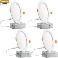 6 Inch Slim Recessed Ceiling Light Warm White Dimmable Airtight Downlight with Remote Driver cETLus Listed - 4 Pack -- Check this awesome product by going to the link at the image. (This is an affiliate link) Recessed Ceiling, Ceiling Lights, Downlights, Electrical Equipment, Remote, Slim, Mirror, Awesome, Check