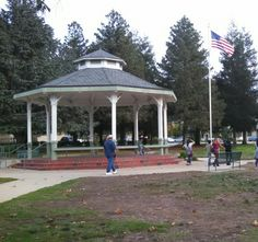 Mitchell Park bandstand San Luis Obispo, Gazebo, Outdoor Structures, Park, Kiosk, Pavilion, Parks, Cabana