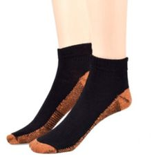 143929fa40 Unisex Pain Relief Ankle Length Copper Infused Compression Socks (3 Packs),  Black Sport