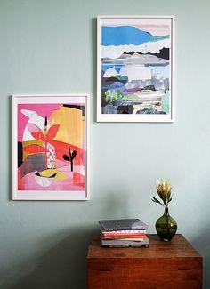 Hübsche #Collage der Künstlerin #Käthe #Schönle aus #Wien #diy Collage, Photomontage, Gallery Wall, Frame, Prints, Painting, Interiors, Design, Decor