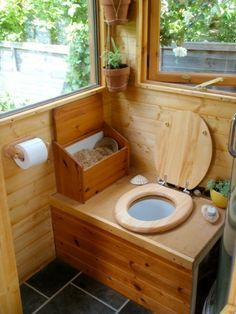 composting toilet to put in outhouse for when used as a guest house.