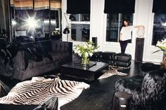Black and white interiors never looked this sexy. Alexander Wang in his TriBeCa loft, decorated by Ryan Korban.
