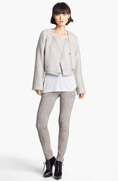 J Brand Ready-to-Wear Jacket & Suede Pants  available at #Nordstrom