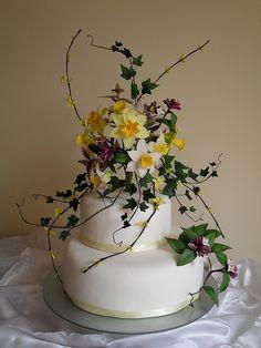 Daffodil Wedding Cake   Flickr - Photo Sharing!