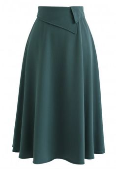 Keep on Loving You A-Line Midi Skirt in Dark Green - Retro, Indie and Unique Fashion Modest Fashion, Fashion Outfits, Womens Fashion, Fashion Trends, Pleated Midi Skirt, Floral Maxi Dress, Look Fashion, Unique Fashion, Dark Green Skirt