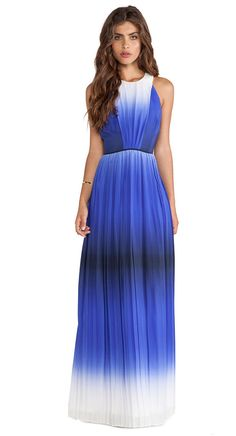 Milly Ombre Print Maxi Dress
