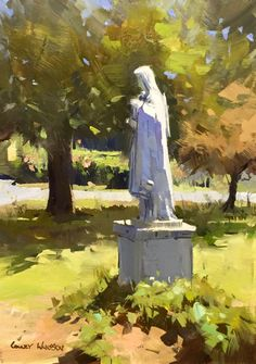 """Colley Whisson      An Angel Keeps No Secrets, 10""""x7"""" oil"""