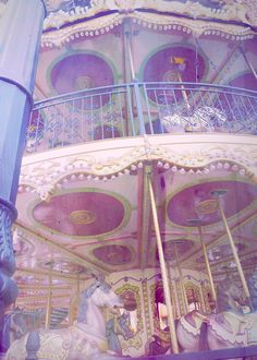 Pretty Pastels ❋ Merry Go Round - Carnival Ride ❋ Pink and Purple