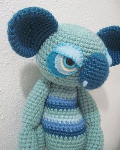 Amigurumi crochet Sad Blue 12 inch Lovey by DreamsInAmigurumi, $30.00
