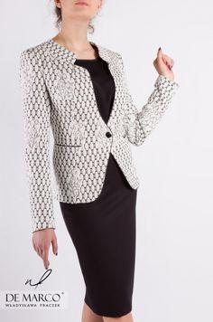 4869a4f0ce Elegancki komplet damski żakardowy żakiet ze spódnicą z De Marco  demarco   frydrychowice  sukienka