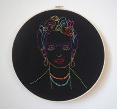 Frida Kahlo Hand Embroidery .PDF Pattern par absolutelysmall, $4.50