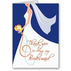 Beautiful bride silhouette on navy blue background with autumn floral bouquet. Bridesmaid Thank You Cards, Will You Be My Bridesmaid, Wedding Thank You Cards, Navy Blue Bridesmaids, Wedding Bridesmaids, Bride Silhouette, Navy Blue Background, Cool Themes, Custom Thank You Cards