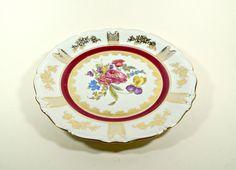 Decorative plates for hanging Vintage Floral by DKVINTAGEGALLERY