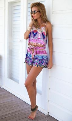 Summer is for romping around! Get this boho romper on lightinthebox!
