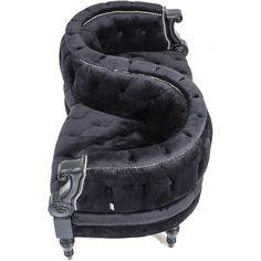 Vis A Vis 2-Seater Black Sofa