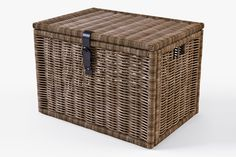 Wicker Rattan Chest Ikea Byholma by Markelos on Creative Market