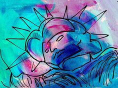 Statue Of Liberty Abstract By Frank Bright iPad Painting - Digital Art