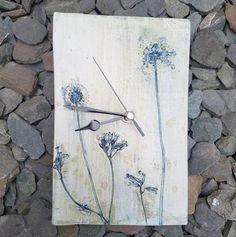 ceramic dandelions clock