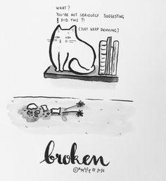 Broken - by Camille Medina #inktober #inktober2016