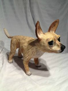 Creative Clay Dog Sculptures by CreativeClayDogs on Etsy