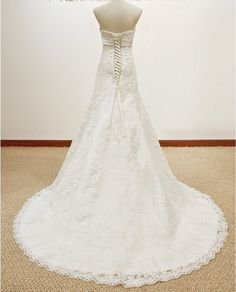 Custom size A Line Princess Lace Wedding Dress by kissbridal, $239.00    I'd rather not have the bow tie in front.... =/