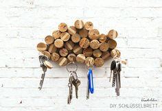 DIY: Schlüsselbrett basteln in wolkigen Höhen - DIY Blog von Anastasia