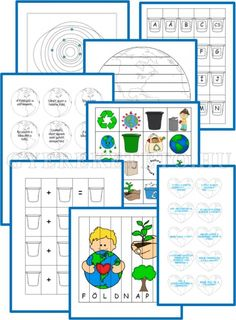 Föld Napja Lapbook mintalapjai