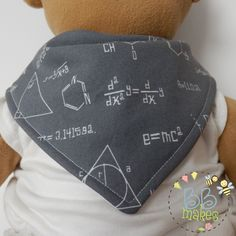 Handmade Grey Science Formulas Waterproof Bib - pinned by pin4etsy.com