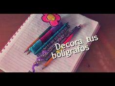 #HTM: Decora CUADERNOS, FOLDERS, ESFEROS Y LAPICES! | Regreso A Clases - YouTube