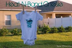 Dual Heat-N-Bond {Cricut Cut} Onesie | Sew Woodsy