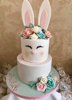 Bunny Birthday Cake, Easter Birthday Party, 1st Birthday Party For Girls, Easter Bunny Cake, Bunny Party, Easter Cupcakes, First Birthday Cakes, Bunny Cakes, Birthday Ideas