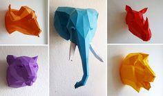 PAPERWOLF | DIY Geometric Paper Animal Sculptures