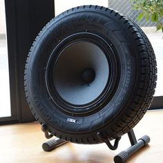 Seal Recycled Tire Speaker #Gadget, #Speaker, #Tire