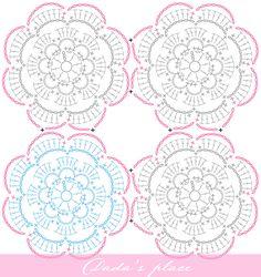 Dada's place: Secret Garden Crochet Shawl tutorial: Part II