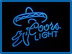 Coors Light Chilli Sombrero Beer Bar Pub Restaurant Neon Light Sign