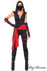 COSTUME 5 PIÈCES LA NINJA MORTELLE - LEG AVENUE  http://www.prod4you.com/#!costume-personnage-princesse/c22sj