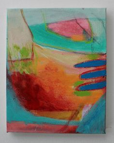 Colorful Acrylic Painting Abstract Let's by kerriblackmanfineart