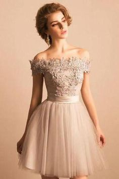 Bandage Prom Dresses, Ivory A-line/Princess Prom Dresses, Short Ivory Homecoming Dresses, 2018 Off-the-shoulder Lace Tulle Short Beaded Homecoming/Prom Dress,Graduation Party Dress Champagne Homecoming Dresses, Ivory Prom Dresses, Cute Homecoming Dresses, Princess Prom Dresses, Dresses Short, Prom Dresses 2018, Cheap Evening Dresses, Cheap Prom Dresses, Prom Party Dresses
