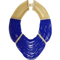 Bcbg Maxazria Blue Seed Bead Necklace ($130) ❤ liked on Polyvore featuring jewelry, necklaces, blue, multi row necklace, blue necklace, multiple strand necklace, multiple strand beaded necklace and multi strand chain necklace