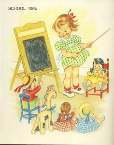 artwork from vintage Saalfield book