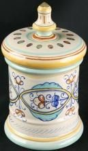 Vintage Hand-Painted Italian Deruta Pharmacy Pot Container, Kitchen Canister