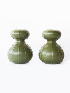 jarrones verdes