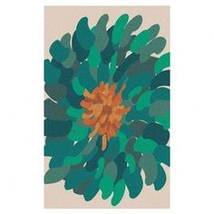 Hand-tufted wool rug with a floral motif.   Product: RugConstruction Material: 100% New Zealand woolColor: Ivory, teal blue, green, gold and brownFeatures:  Made in IndiaHand-tufted Note: Please be aware that actual colors may vary from those shown on your screen. Accent rugs may also not show the entire pattern that the corresponding area rugs have.Cleaning and Care: Blot stains